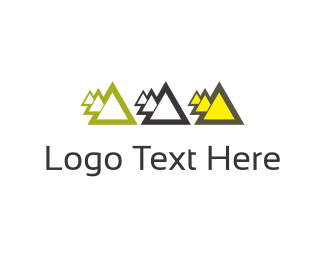 Three - Click pyramids logo design