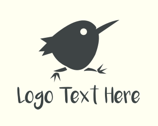 Running - Little Black Bird logo design