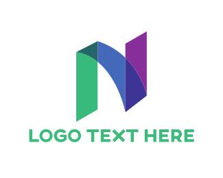 Painter - Marker Letter N logo design