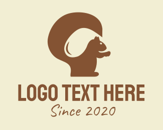 Squirrel - Brown Squirrel logo design