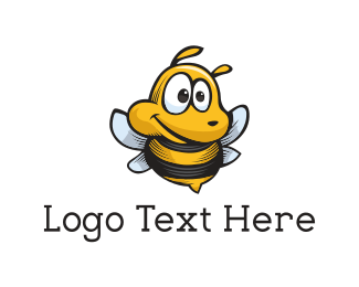 Cute Bee Mascot Logo Maker
