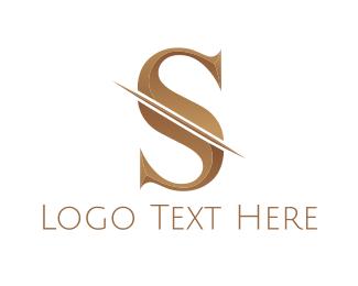 Stylish - Bronze Letter S logo design