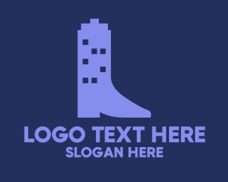 Shoe - Building Boot logo design