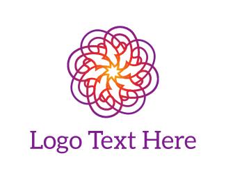 Graphic - Purple Psychedelic Flower logo design