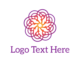 Bollywood - Purple Psychedelic Flower logo design