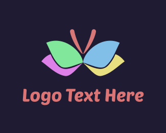 Freedom - Colorful Butterfly logo design
