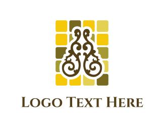 Wrought Iron - Floral Mosaic logo design
