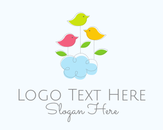 Daycare - Cloud & Birds logo design