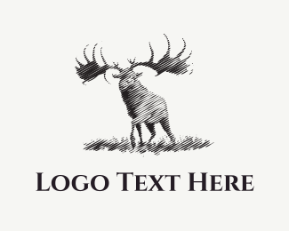 Hunting - Black Moose logo design