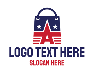 Shop - American Shopping Bag logo design