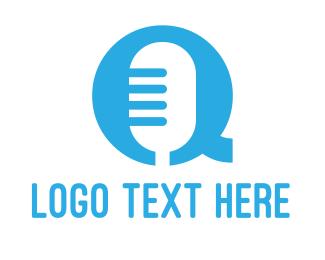 Letter Q - Microphone Letter Q logo design