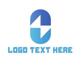 Capsule - Electrical Capsule logo design