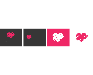 Pink And White - Care Heart logo design