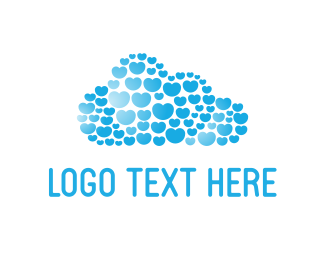 Light - Hearts Cloud logo design
