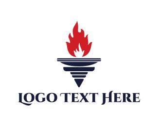 Tournament - Red Torch logo design