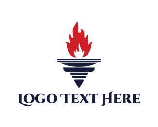 Olympic - Red Torch logo design