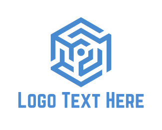 Hexagonal - Hexagonal Maze logo design