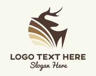 Alaska - Deer Shield logo design