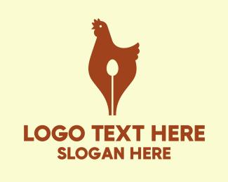 Write - Hen Pen logo design