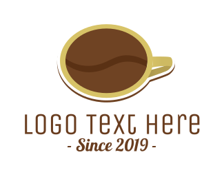 Espresso - Coffee Bean Cup logo design