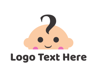 Head - Cute Baby Face logo design