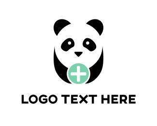 Bear - Panda Plus logo design