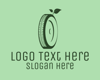 Rv - Eco Green Tyre logo design