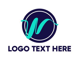 Letter W - Fancy Letter W logo design