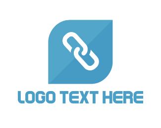 Connection - Blue Link logo design