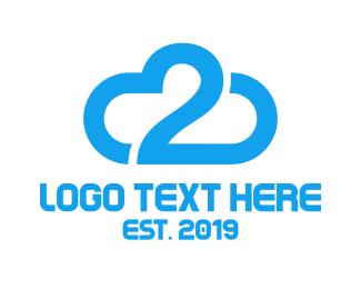Download - Blue Cloud Number 2 logo design