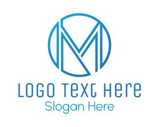 Designer - Blue M Circle logo design