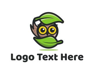 Owl - Forest Owl logo design