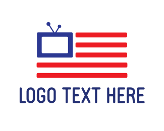 Appliances - American Flag TV logo design