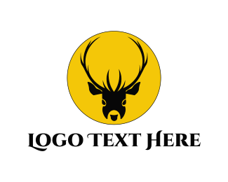 Whiskey - Deer Head  logo design