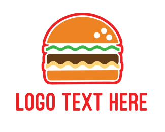 Hamburger - American Burger logo design