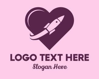 Date - Rocket Love  logo design