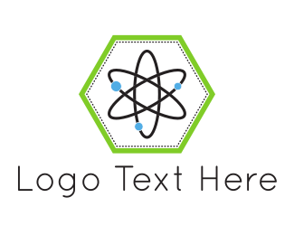 Neutron - Hexagonal Atom logo design