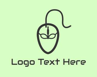 Joystick - Alien Mouse logo design