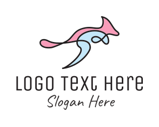 Tourist - Kangaroo Art logo design