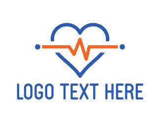 Pharmaceutical - Heart Pulse logo design