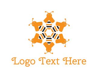 Swarm - Beehive logo design