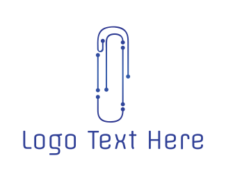 Electronics - Tech Clip logo design