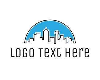 Minimalist - Dallas Skyline  logo design