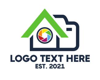 Photography - Camera Shutter House logo design