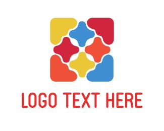 Paint - Colorful Tiles logo design