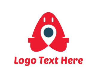 Location - Red Pin logo design