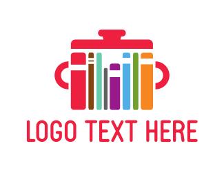 Book - Colorful Cookbooks logo design