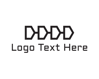 Zip - Chain Letter D logo design