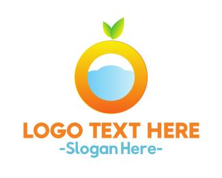 Blue And Orange - Orange Cloud logo design