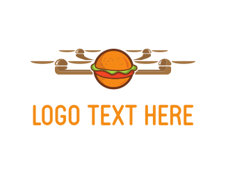 Shipping - Drone Burger logo design